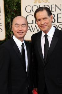 C.S. Lee and James Remar at the 66th Annual Golden Globe Awards.