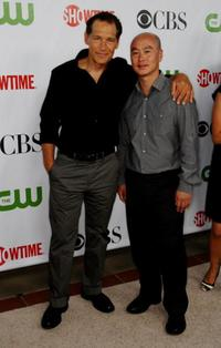 James Remar and C.S. Lee at the CBS, CW, CBS Television Studio and Showtime TCA party.
