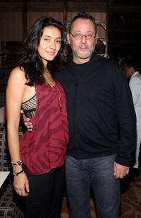 Jean Reno and his wife Zofia Reno at the reception hosted by Picturehouse for