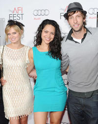 Sara Paxton, Alyssa Diaz and Joel Moore at the red carpet of the premiere of