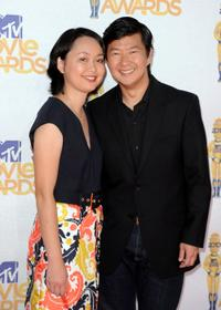 Tran Jeong and Ken Jeong at the 2010 MTV Movie Awards.