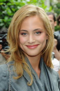 Nora Arnezeder at the Christian Dior Fashion Show during the Paris Fashion Week Haute Couture A/W 2009/10.