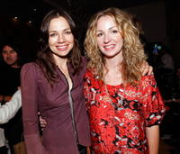 Justine Bateman and Marissa Ribisi at the Whitley Kros Spring 2009 fashion show during the Mercedes Benz Fashion Week.