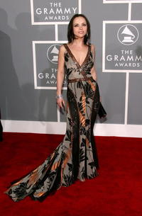 Christina Ricci at the 49th Annual Grammy Awards in L.A.