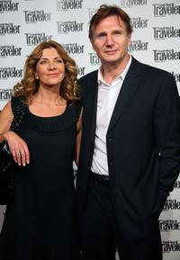 Natasha Richardson and Liam Neeson at the Conde Nast Traveler Readers' Choice Awards.