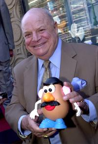 Don Rickles at the Hollywood Walk of Fame, holds a