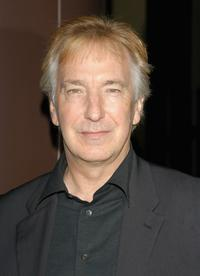 Alan Rickman at the premiere of