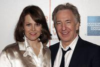Alan Rickman and Sigourney Weaver at the premiere of