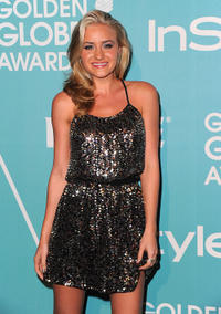AJ Michalka at the Hollywood Foreign Press Association & InStyle Introduce Miss Golden Globe 2011 in California.