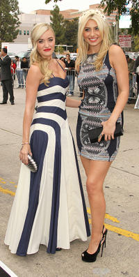 AJ Michalka and Alyson Michalka at the California premiere of