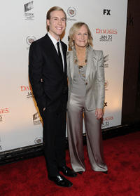 Zachary Booth and Glenn Close at the season 3 New York premiere of