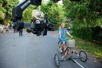 Julia Roberts on the set of
