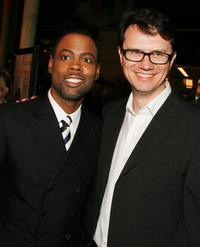 Chris Rock and Peter Rice pose at the premiere of