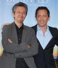 Pierre Coffin and Gad Elmaleh at the photocall for