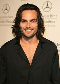 Scott Elrod at the Smashbox Studios during the day 3 of Mercedes-Benz Fashion Week.