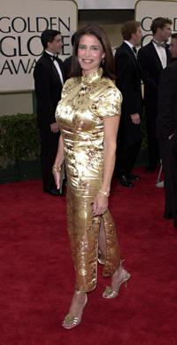 Mimi Rogers at the 58th Annual Golden Globe Awards.