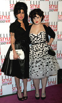 Amy Winehouse and Kelly Osbourne at the ELLE Style Awards 2007 in London.