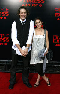TJ Miller and Lizzy Caplan at the California premiere of