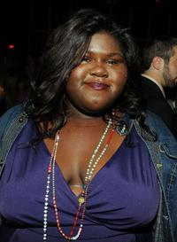 Gabourey Sidibe at the Cinema Society and Target after party for