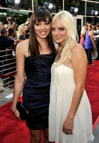 Aubrey Plaza and Anna Faris at the premiere of