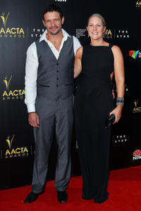 Matt Nable and Cassandra Nable at the 2nd Annual AACTA Awards in Australia.