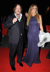 Mickey Rourke and Guest at the Opening Ceremony Dinner during the 3rd Rome International Film Festival.