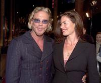 Mickey Rourke and Carrie Otis at the premiere of
