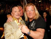 Mickey Rourke and Steven Valentine at the premiere of