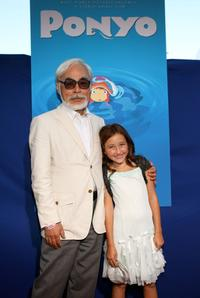 Hayao Miyazaki and Noah Cyrus at the industry screening of