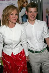 Deborah Rush and her son Walter Cronkite IV at the premiere of