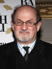 Salman Rushdie at the Annual Moth Ball literary and charity event.