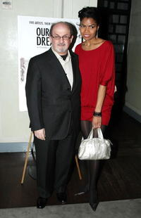 Salman Rushdie and Pia Glenn at the after party of the premiere of