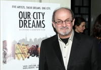 Salman Rushdie at the premiere of