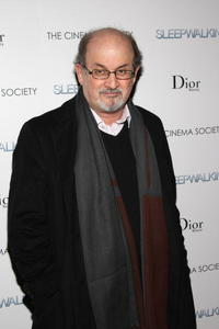 Salman Rushdie at the New York premiere of