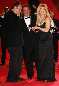 Kurt Russell, Quentin Tarantino and Goldie Hawn at the Palais des Festivals at 60th International Cannes Film Festival, for the premiere of