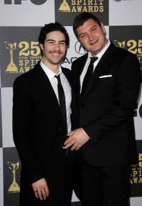 Tahar Rahim and Thomas Bidegain at the 25th Film Independent's Spirit Awards.