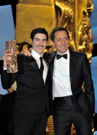 Tahar Rahim and Gad Elmaleh at the 35th Cesar Film Awards.