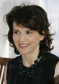 Juliette Binoche at the press conference promoting the movie