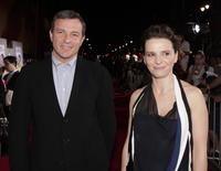 Juliette Binoche and Bob Iger at the premiere of Touchstone Pictures