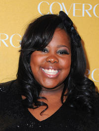Amber Riley at the Covergirl Cosmetic's 50th Anniversary party in California.