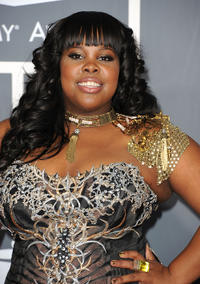 Amber Riley at the 53rd Annual GRAMMY Awards in California.