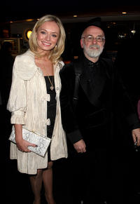 Laura Haddock and author Terry Pratchett at the world premiere of