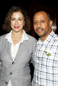 Ruben Santiago-Hudson and Roma Maffia at the 31st Humanitas Prize ceremony.