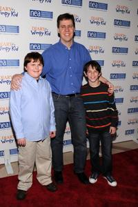 Robert Capron, Jeff Kinney  and Zachary Gordon at the premiere of