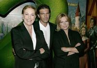 Julie Andrews, Antonio Banderas and Jennifer Saunders at the UK Charity premiere of