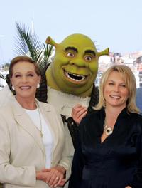 Julie Andrews and Jennifer Saunders at the photocall of