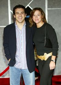 Fred Savage and guest at the premiere of
