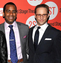 Daniel Breaker and Kevin Isola at the after party of the Off-Broadway Opening Night of