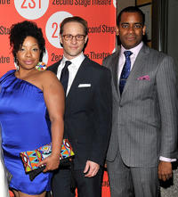 Kimberly Hebert Gregory, Kevin Isola and Daniel Breaker at the after party of the Off-Broadway Opening Night of