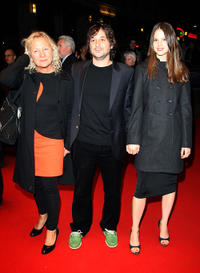 Producer Agnes B, director Harmony Korine and Rachel Korine at the premiere of